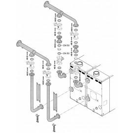 Гидравлический комплект для двух котлов в каскаде KB1 для котлов POWER HT 1.230 Baxi (LXO00069263)